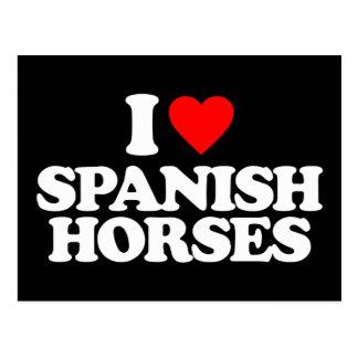 I LOVE SPANISH HORSES POSTCARD