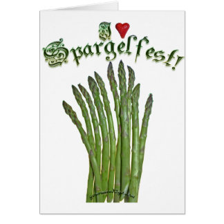 I Love Spargelfest! Greeting Card