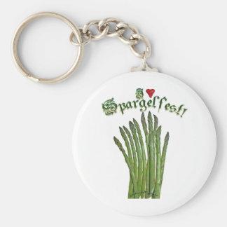 I Love Spargelfest Keychain
