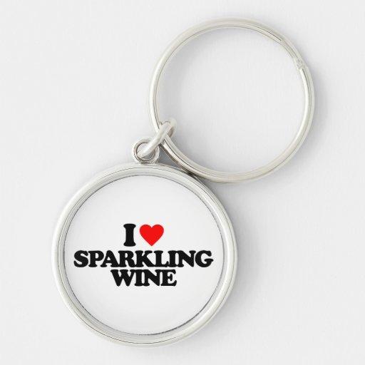 I LOVE SPARKLING WINE KEY CHAIN
