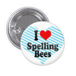 I love Spelling Bees Pinback Button