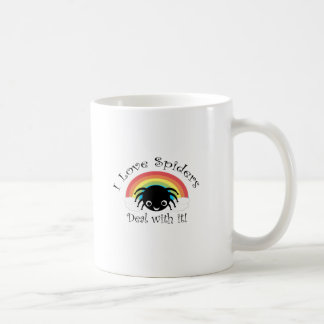 I love spiders deal with it coffee mug
