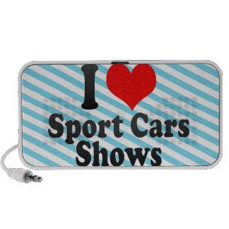 I love Sport Cars Shows Mp3 Speaker