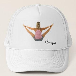 I love sport trucker hat