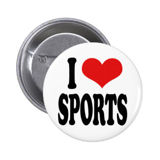 I Love Sports 6 Cm Round Badge