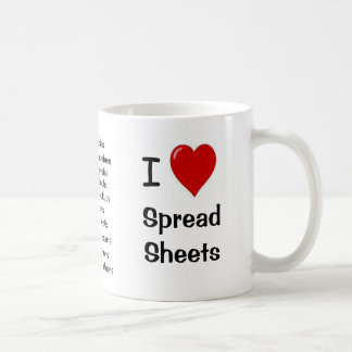 I Love Spreadsheets - Rude Reasons Why! Basic White Mug