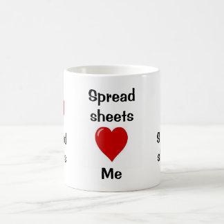 I Love Spreadsheets - Spreadsheets Love Me Basic White Mug