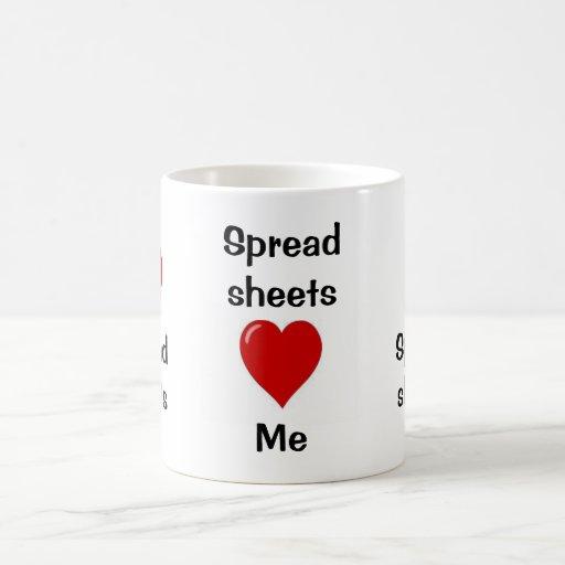 I Love Spreadsheets - Spreadsheets Love Me Coffee Mugs