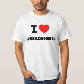 I love Spreadsheets Tee Shirt