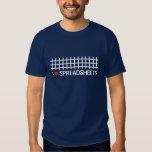 I love spreadsheets tshirts