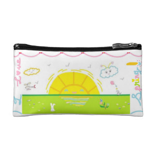 I love spring cosmetic bag