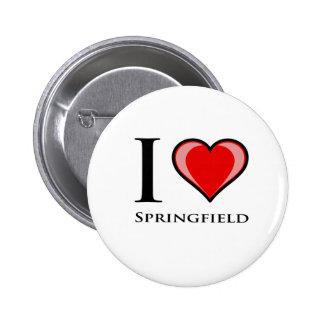 I Love Springfield Pin
