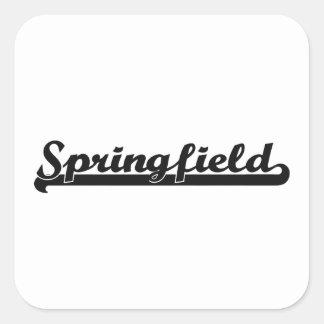 I love Springfield Massachusetts Classic Design Square Sticker