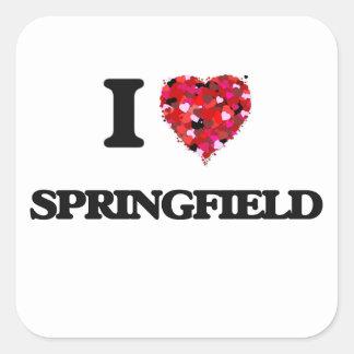I love Springfield Massachusetts Square Sticker