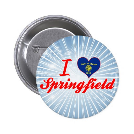 I Love Springfield, Oregon Pins