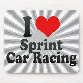 I love Sprint Car Racing Mouse Pads