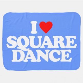 I LOVE SQUARE DANCE SWADDLE BLANKETS