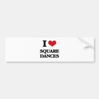 I Love SQUARE DANCES Bumper Sticker