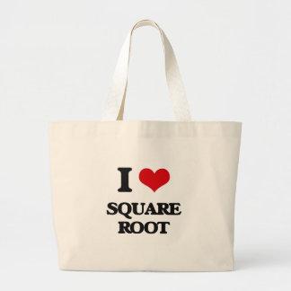 I love Square Root Jumbo Tote Bag