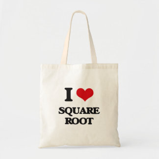 I love Square Root Budget Tote Bag