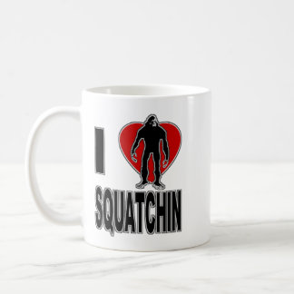 I Love Squatchin! Coffee Mug