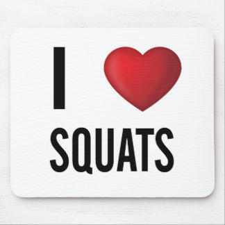 I love squats mouse pad