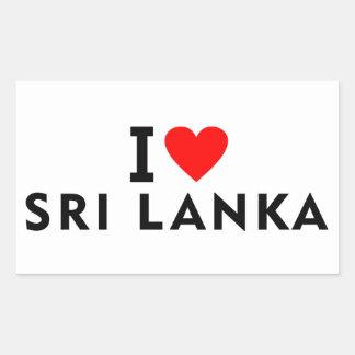 I love Sri Lanka country like heart travel tourism Rectangular Sticker
