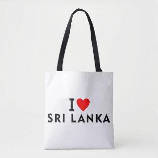 I love Sri Lanka country like heart travel tourism Tote Bag