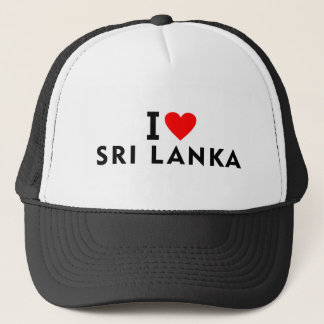 I love Sri Lanka country like heart travel tourism Trucker Hat