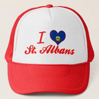 I Love St. Albans, Vermont Trucker Hat