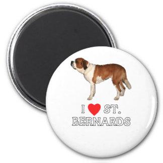I Love St. Bernards Magnet
