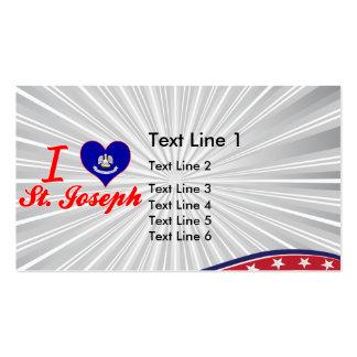 I Love St. Joseph, Louisiana Business Card Template