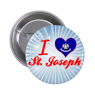 I Love St Joseph Louisiana Pins