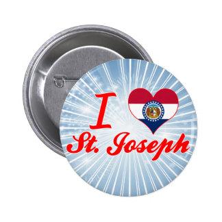 I Love St Joseph Missouri Pin
