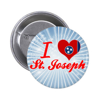 I Love St Joseph Tennessee Button