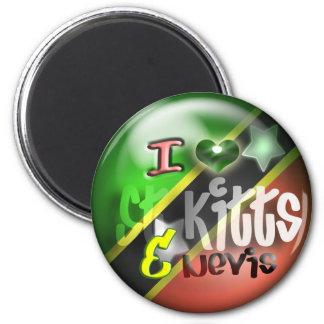 I Love St. Kitts & Nevis Patriot Magnet