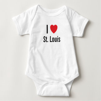 I love St. Louis Baby Jumper Baby Bodysuit