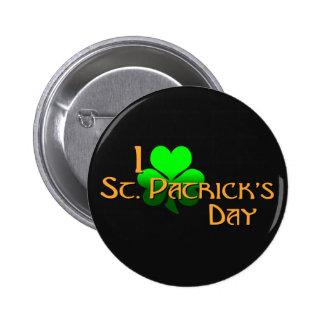 I Love St. Patrick's Day 6 Cm Round Badge