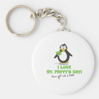 I Love St Patty's Day Now Give Me a Beer Key Chains
