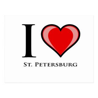 I Love St. Petersburg Postcard