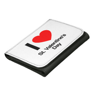 i love st. valentine's day leather wallets
