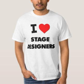 I Love Stage Designers Tshirts