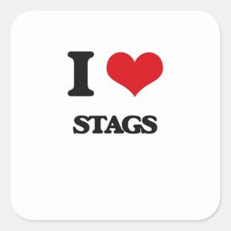 I love Stags Square Sticker