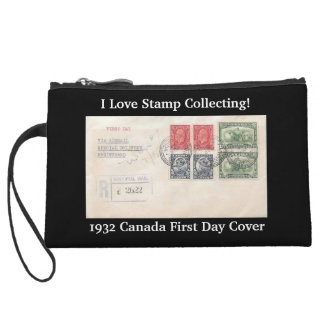 I Love Stamp Collecting! Vintage Covers Clutch Wristlets