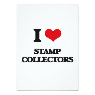 "I love Stamp Collectors 5"" X 7"" Invitation Card"