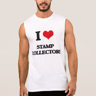 I love Stamp Collectors Sleeveless T-shirts