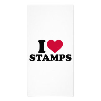 I love stamps photo card template