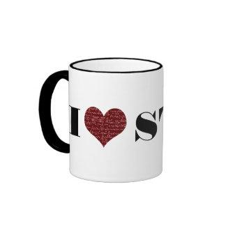 I Love Stat Ringer Mug