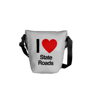 i love state roads messenger bags