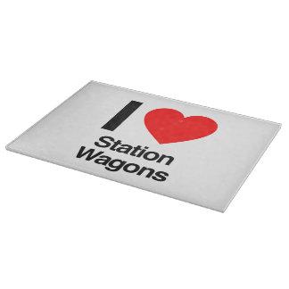 i love station wagons cutting board